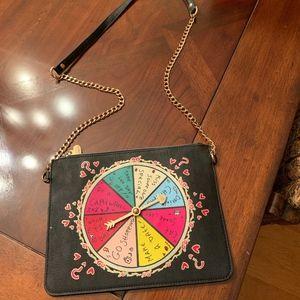 Betsy Johnson Spinner Crossbody Bag